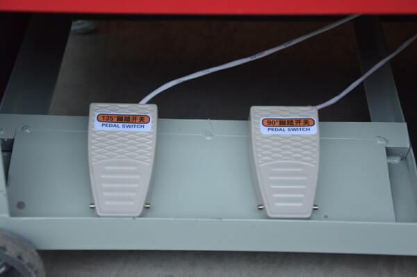 stirrup bending machine foot switch