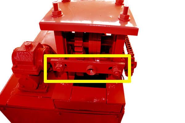 import hole of MY2-5 wire straightener machine