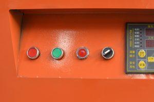 operation panel of rebar bender