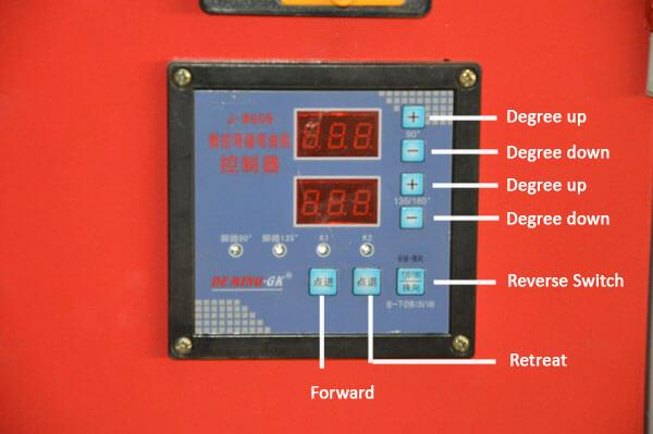 CNC degree controller of GF25 CNC rebar stirrups bender