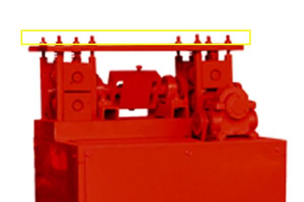 pressing bolts of wire straightening machine