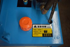 hydraulic oil hole of GT4-14D automatic rebar straightening and cutting machine