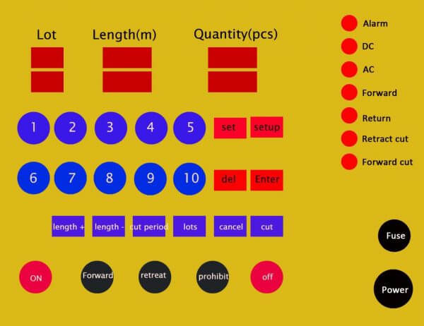 CNC digital controler panel- Shuanglong Machinery