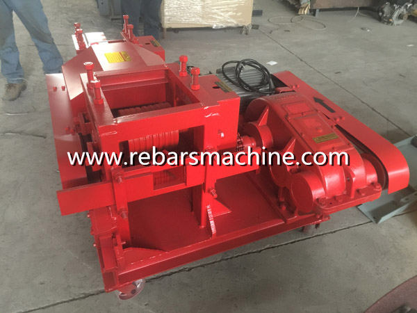 rebar scrap steel straightening machine