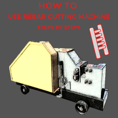 how to use a rebar cutting machine