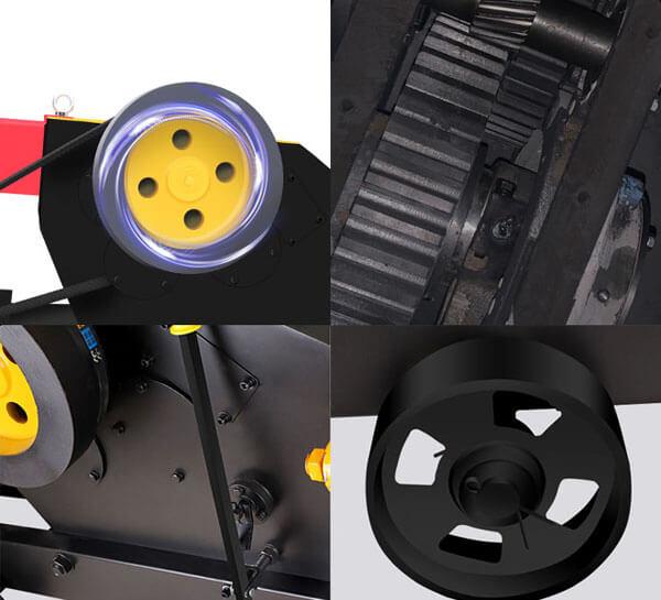 large pulley,gears,clutch,wheel